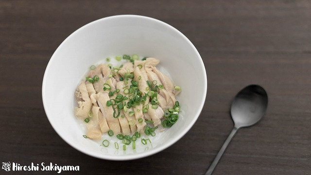 鶏と生姜の中華粥3