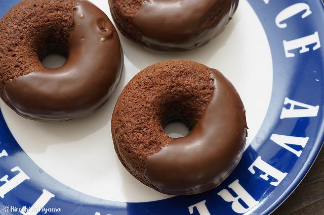 ホットケーキミックスで作るチョコ焼きドーナツ2