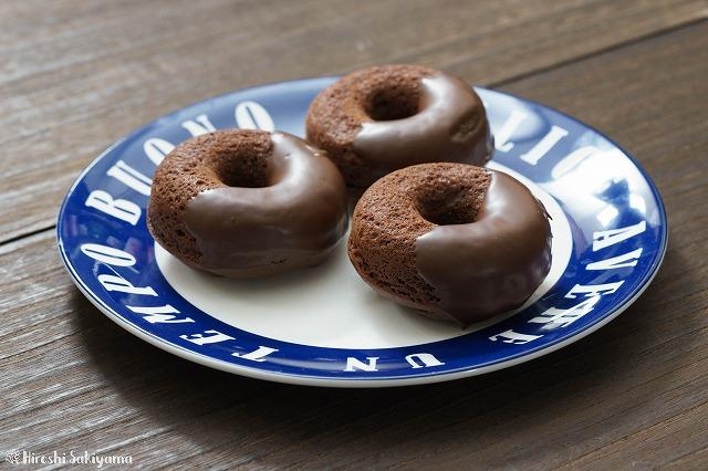 ホットケーキミックスで作るチョコ焼きドーナツ