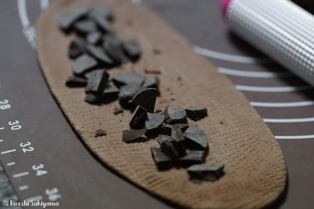 刻んだチョコレートをちらした様子