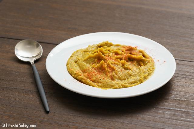 ひよこ豆とかぼちゃのフムスカレー