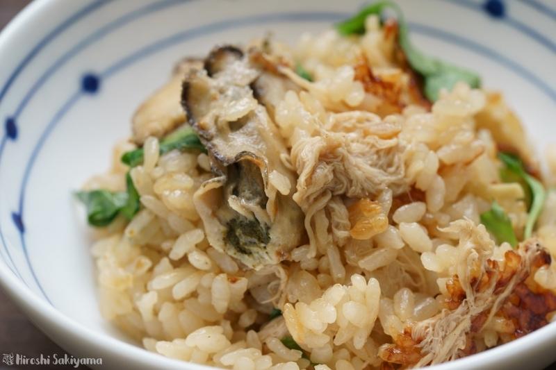 牡蠣とヤマブシタケの炊き込みご飯2