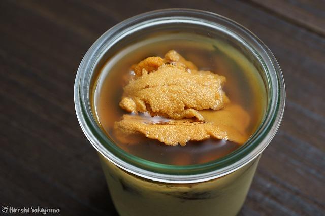 雲丹の冷製茶碗蒸し3