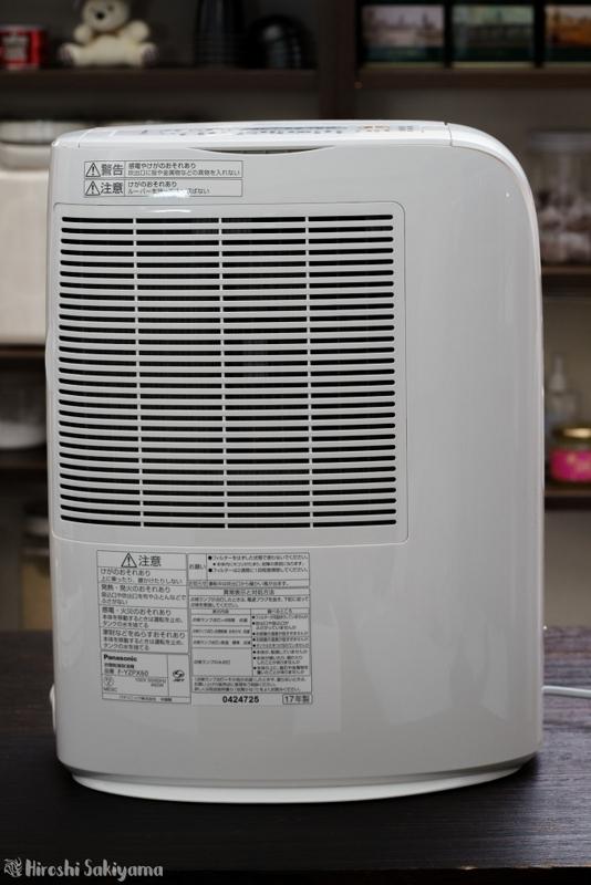 パナソニック 衣類乾燥除湿機 「F-YZP60」背面