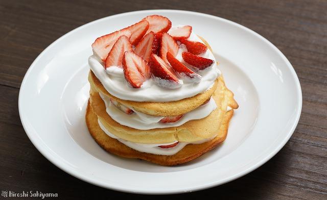 ベーキングパウダーなしで作るパンケーキ(ホットケーキ)2