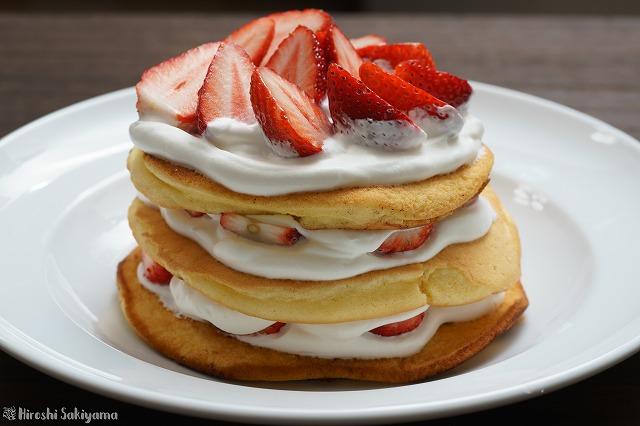 ベーキングパウダーなしで作るパンケーキ(ホットケーキ)
