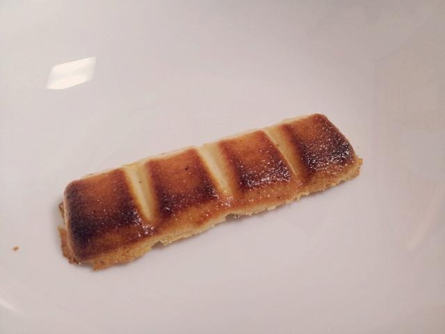ホワイトチョコをトーストした様子