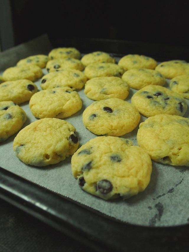 カントリーマアム風のソフトクッキー焼き上がり