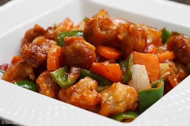 薄切り肉で作る酢豚2