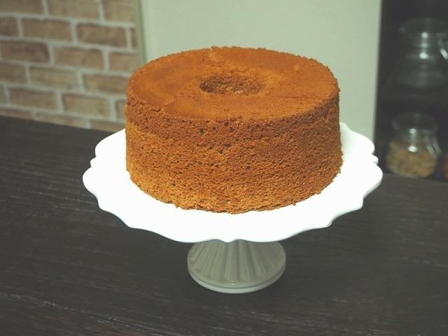 準強力粉を使ったプロ仕様のココアシフォンケーキ