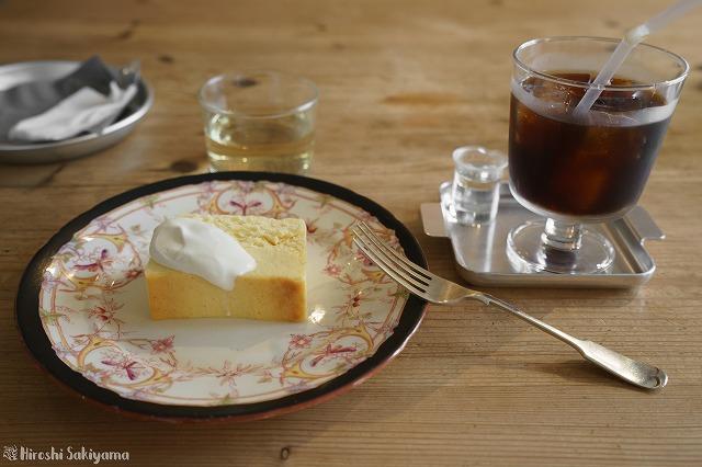 チーズケーキとアイスコーヒー