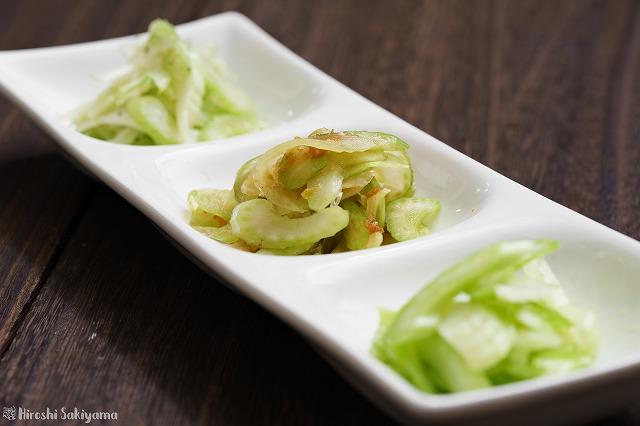 薄切りにして和えるだけのセロリの小鉢副菜3種2