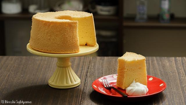 ふわふわ米粉シフォンケーキ