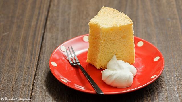 弾力のある米粉シフォンケーキ