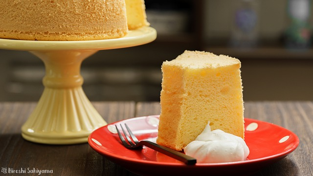 ふんわり米粉シフォンケーキ
