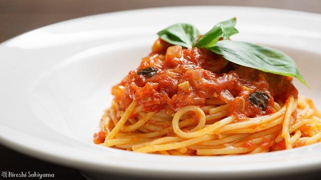 トマトソースパスタ、ポモドーロ2