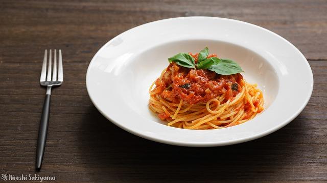 トマトソースパスタ、ポモドーロ3