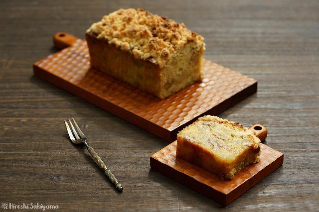 梨とクルミのクランブルケーキ