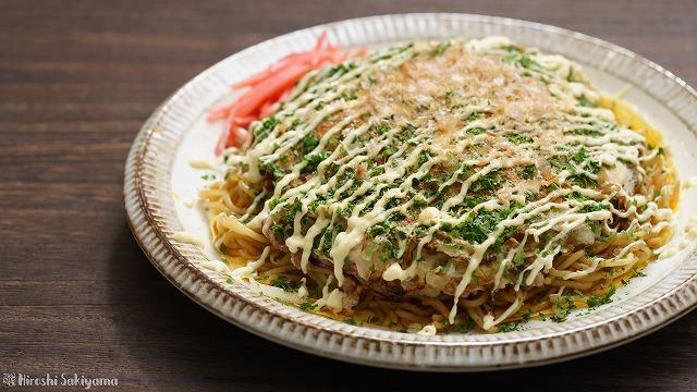フライパンで作る広島風お好み焼き
