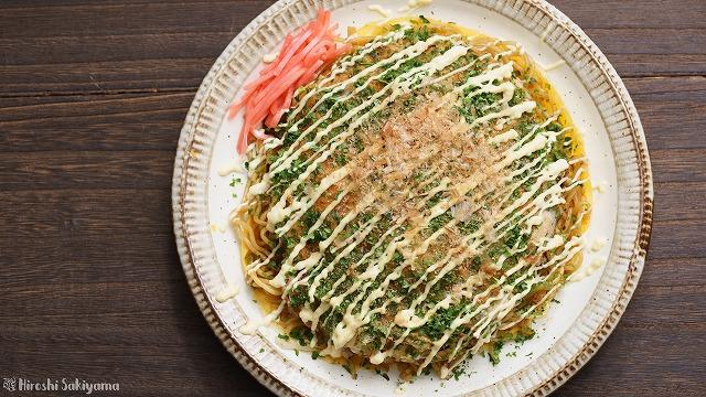 フライパンで作る広島風お好み焼き3