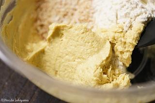 乳化したバターの様子
