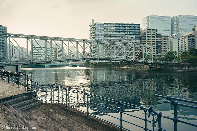 天王洲アイルの運河の眺め