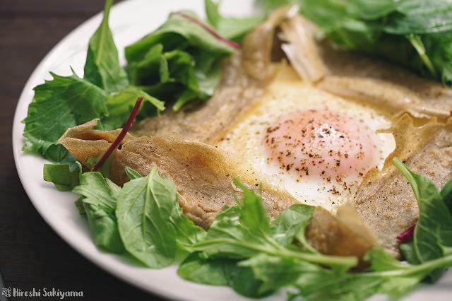 基本の卵・ハム・チーズのガレット