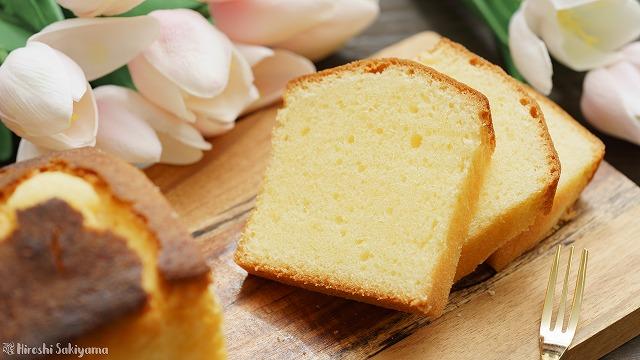 溶かしバターで作るパウンドケーキ