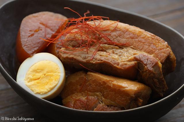 豚の角煮のアップ