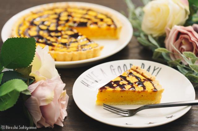 かぼちゃのベイクドチーズタルト