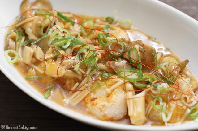 中華風キノコあんかけ大根餅のアップ