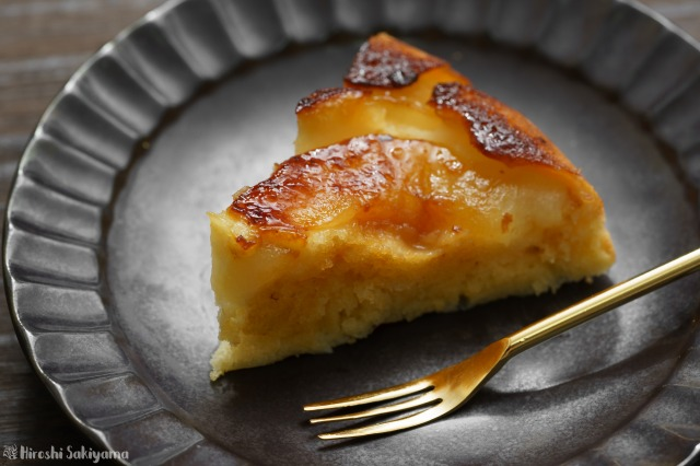 フライパンで作る洋梨(ラ・フランス)のケーキ