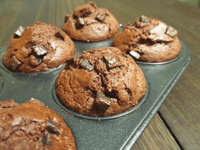 チョコチョコしいチョコレートマフィン