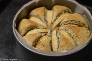 ホットケーキミックスで作るアップルケーキ焼き上がり
