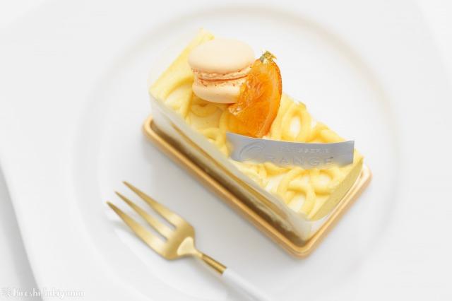 オレンジのケーキ、オランジュを上から見た様子