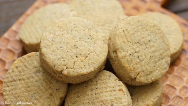 ホットケーキミックスで作る簡単ピーナッツバタークッキーのどアップ
