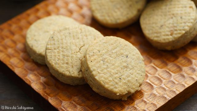 ホットケーキミックスで作る簡単ピーナッツバタークッキーのアップ