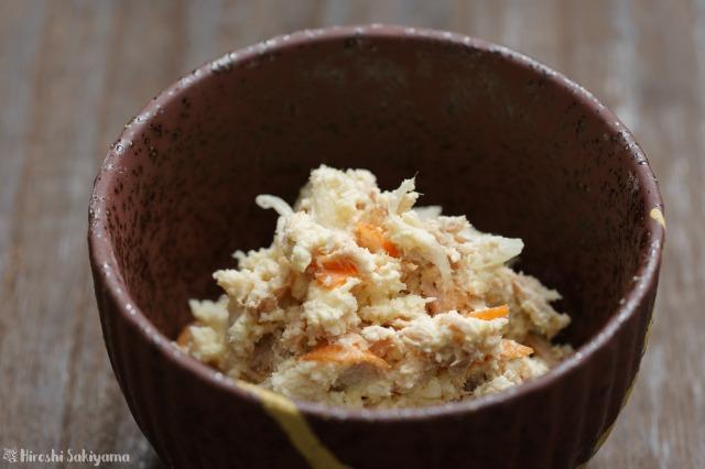 ポテサラ風おからとツナのサラダのアップ