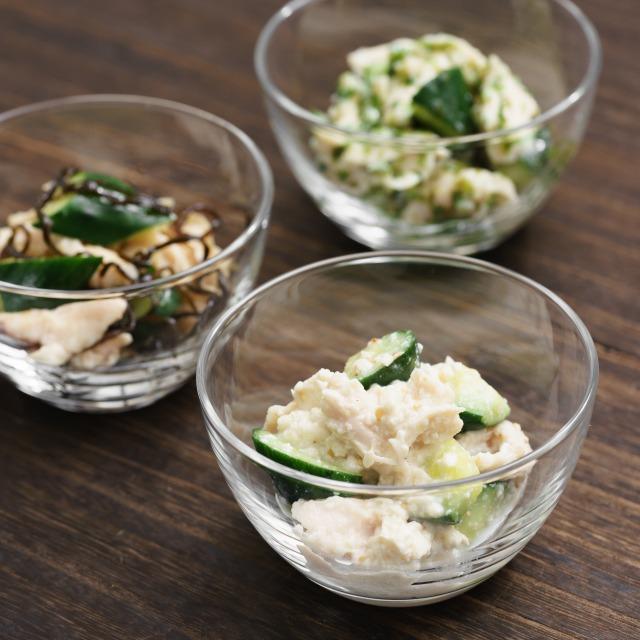 きゅうりとささみの和え物のレシピ3種