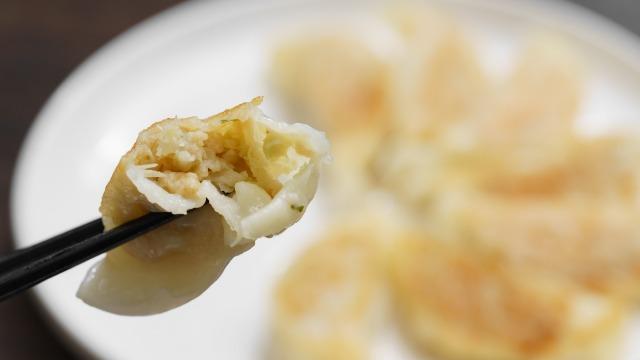 無印良品 調理した冷凍餃子の断面