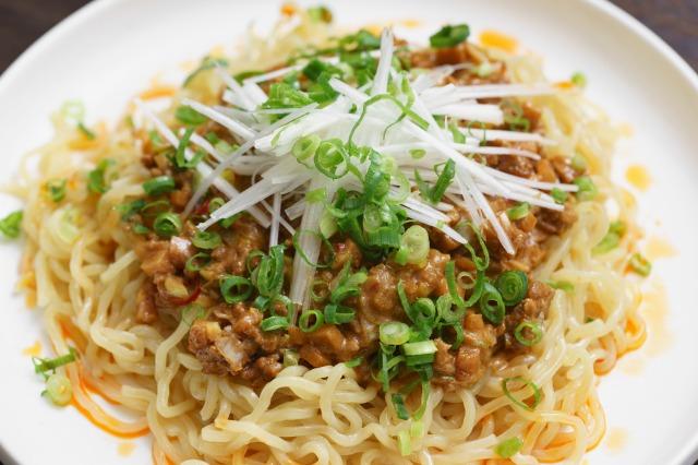 家庭で作る無印良品「麺にかける 四川風麻婆ソース」のアップ
