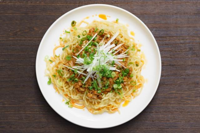 家庭で作る無印良品「麺にかける 四川風麻婆ソース」を上から見た様子