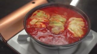 ロールキャベツ・トマトソース、煮込み終わった様子