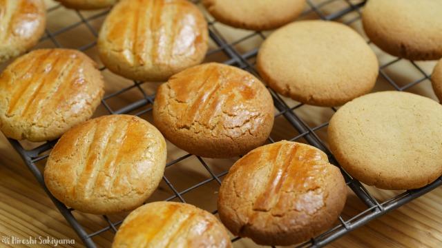 そば粉のクッキー、卵を塗ったほう