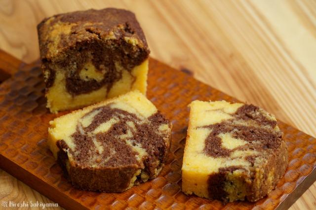 生おからのマーブルチョコパウンドケーキ