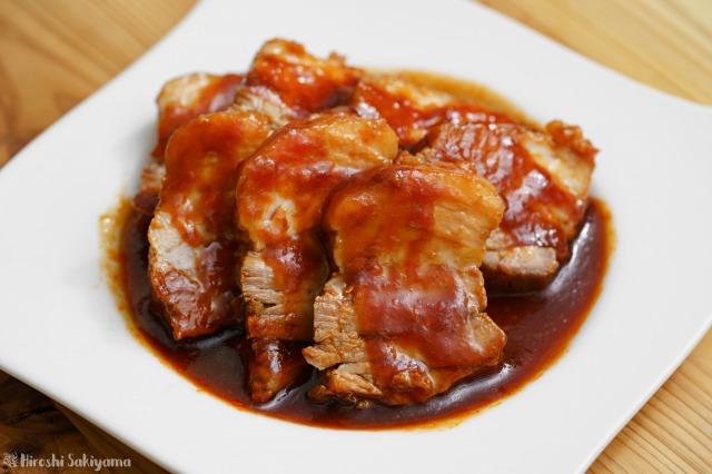 豚肉のケチャップ角煮