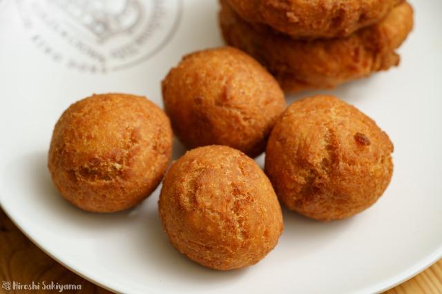 アレルギー対応】おからドーナツ【卵・牛乳・小麦粉・バター不使用】、球型にして揚げたもの