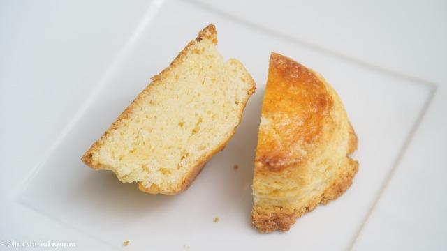 発酵バタースコーンの断面