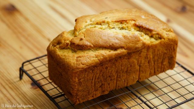 【材料4つ】ホットケーキミックスで作るバナナケーキ