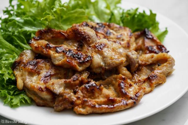 豚肉味噌漬け焼きのアップ